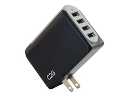 C2G 4-Port USB Wall Charger, 5V 4.8A, 20277, 35125145, AC Power Adapters (external)