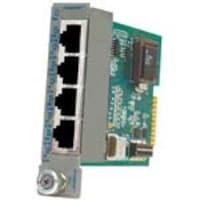 Omnitron iConverter 4XT1 E1 4Pt. Multiplexer Module, 8485-4, 10554584, Network Switches
