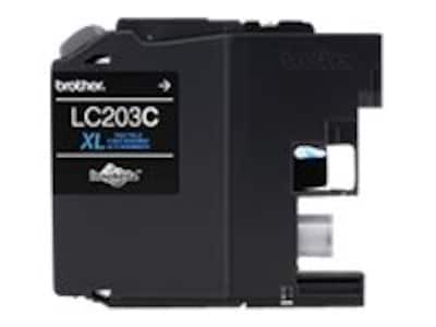 Brother Cyan LC203C High Yield Ink Cartridge, LC203C, 17539512, Ink Cartridges & Ink Refill Kits