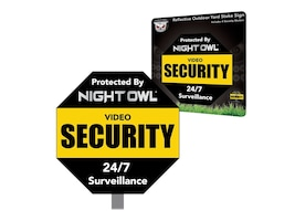 Night Owl N O OUTDOOR YARD STAKE SIGN    ACCSALUMINUM, A-NOAYS, 36868098, Locks & Security Hardware