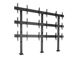 Chief Manufacturing FUSION 3 x 3 Micro-Adjustable Large Bolt-Down Freestanding Video Wall, LBM3X3U, 15704289, Monitor & Display Accessories - Video Wall