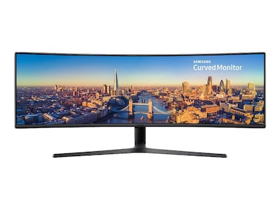 Samsung 49 CJ89 4K Ultra HD LED-LCD Curved Ultrawide Monitor, Black, C49J890DKN, 35532533, Monitors
