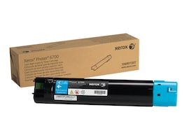 Xerox Cyan High Capacity Toner Cartridge for Phaser 6700 Series Printers, 106R01507, 13355388, Toner and Imaging Components - OEM