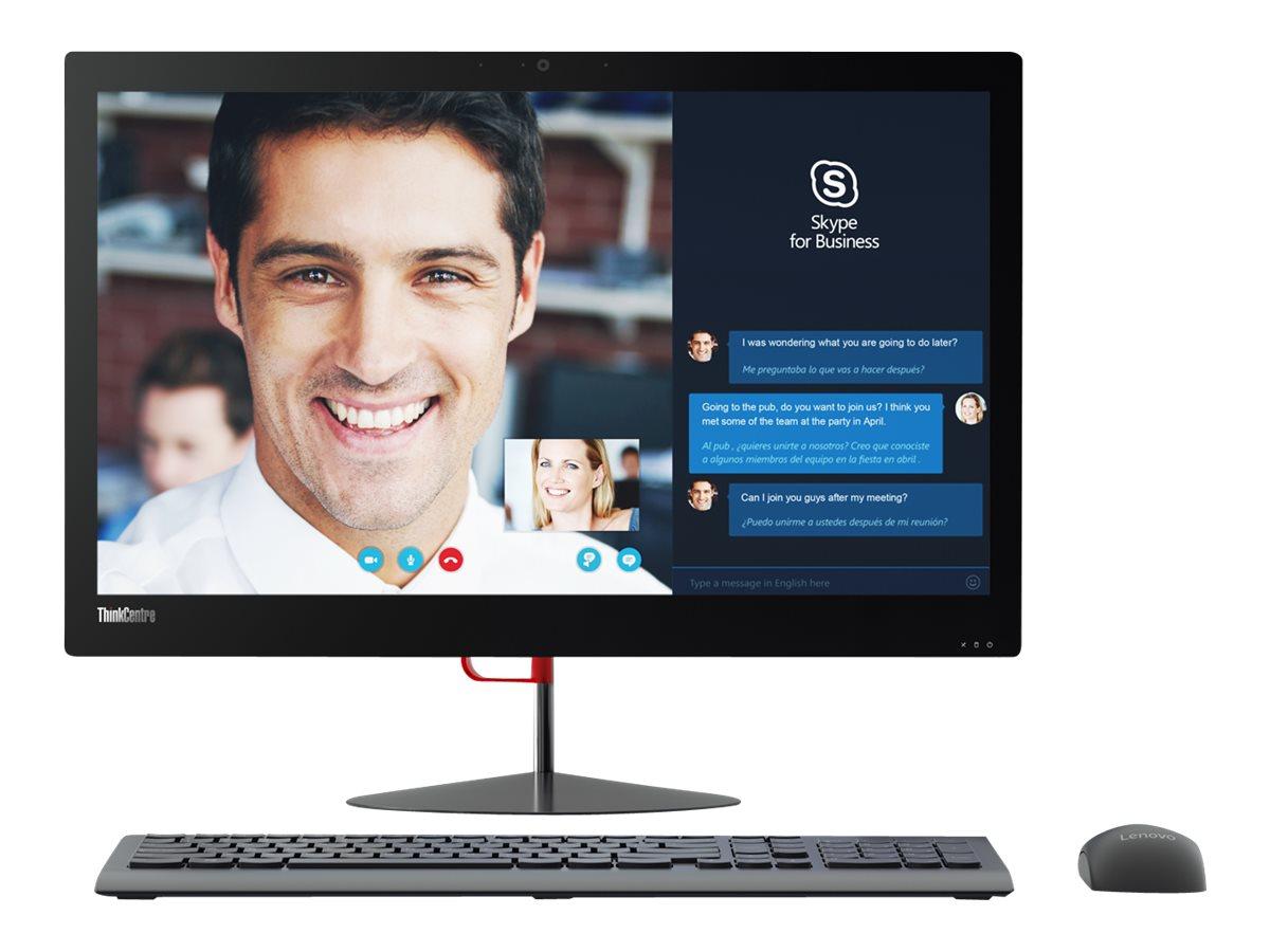 Lenovo TopSeller ThinkCentre X1 AIO Core i5-6200U 2.3GHz 8GB 256GB SSD ac BT WC 23.8 FHD W7P64-W10P, 10KE0007US, 31188536, Desktops - All-in-One