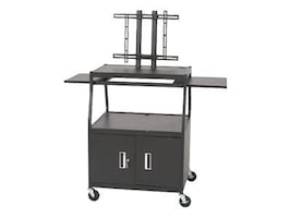 Balt Wide Body Flat Panel TV Cart with Cabinet, Black, 27531, 35717351, Furniture - Miscellaneous
