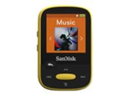 SanDisk 8GB Clip Sport MP3 Portable Audio Player - Yellow, SDMX24-008G-A46Y, 16738093, Digital Media Players