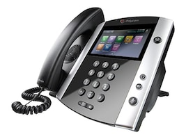 Polycom VVX 601 16-line Business Media Phone w power supply, 2200-48600-001, 31988605, VoIP Phones