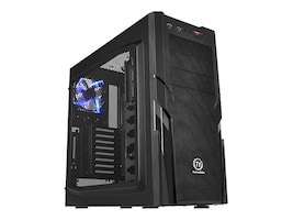 Thermaltake Chassis, Commander G41 Mid Tower ATX mATX 7x3.5 Bays 3x5.25 Bays 9xSlots Window No PSU, CA-1B4-00M1WN-00, 16976471, Cases - Systems/Servers
