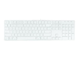 Macally 104-Key Ultra Slim USB Wired Keyboard for Mac & PC, White, SLIMKEYPRO, 34524179, Keyboards & Keypads