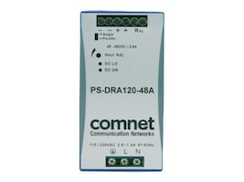 Comnet 48VDC 120W 2.5A DIN High Temp  PoE Apps Screw Terminals, PS-DRA120-48A, 31204153, Power Supply Units (internal)