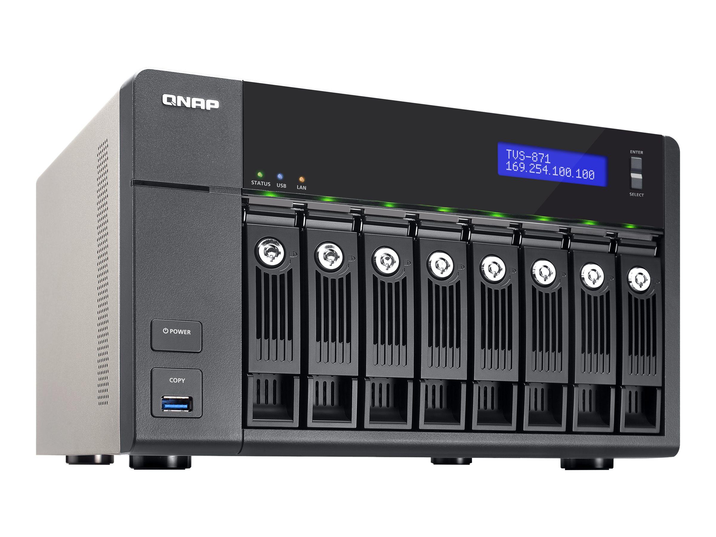 Qnap TVS-871 8-Bay Intel I5 3 0 2C 8GB 4LAN 10GB NAS