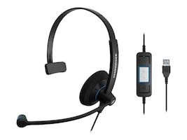 Sennheiser SC 30 UC USB Single-Sided Headset, 504548, 16161301, Headsets (w/ microphone)