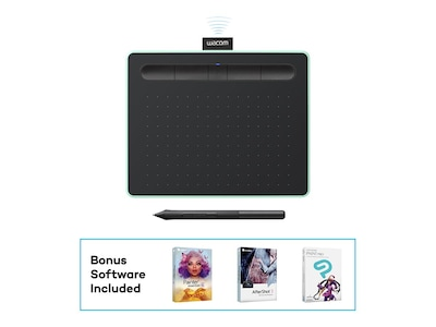 Wacom Small Bluetooth Creative Pen Tablet, Green, CTL4100WLE0, 35064063, Graphics Tablets