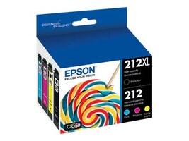 Epson Color 212 Standard Capacity Ink Cartridges & Black 212XL High Capacity Ink Cartridges (4-pack), T212XL-BCS, 36790665, Ink Cartridges & Ink Refill Kits - OEM