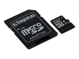 Kingston 32GB UHS-I microSDHC Flash Memory Card with SD Adapter, Class 10, SDC10G2/32GB, 30729636, Memory - Flash