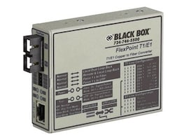 Black Box FlexPoint T1 E1 to Fiber Line Drivers, Single-Mode, 28km, SC, MT663A-SSC, 9711221, Network Extenders