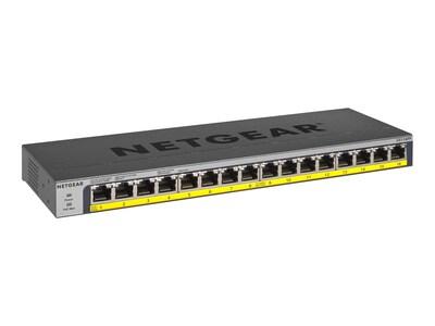 Netgear GS116PP 1U RM Unmanaged Switch 16xGbE PoE+ 1x200W (NA LA), GS116PP-100NAS, 35714610, Network Switches