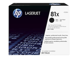 HP 81X (CF281X) High Yield Black Original LaserJet Toner Cartridge, CF281X, 17644427, Toner and Imaging Components