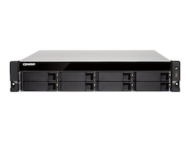 Qnap 2U 8-Bay AMD 64-bit X86-Based NAS & iSCSI  IP-SAN Quad Core 2G 4G Storage, TS-863XU-RP-4G-US, 35652439, SAN Servers & Arrays