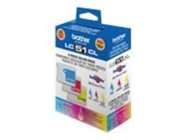 Brother Cyan, Magenta & Yellow LC513 Ink Cartridges, LC513PKS, 8260237, Ink Cartridges & Ink Refill Kits