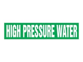 Panduit Snap-On Pipe Marker, High Pressure Water, Green, Size F, PPMS1317F, 36042202, Tools & Hardware
