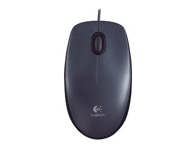 Logitech M100 USB Optical Mouse, Black, 910-001601, 11021051, Mice & Cursor Control Devices