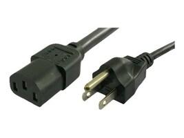 APC Power Cord, IEC320-C13 to NEMA 5-15P, 13A 125V, 16 3, 6ft, 41084-6, 14907236, Power Cords