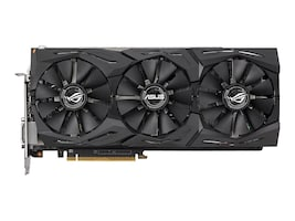 Asus AMD Radeon RX VEGA 64 PCIe 3.0 Overclocked Graphics Card, 8GB HBM2, ROG-STRIX-RXVEGA64-O8G-GAMING, 35030779, Graphics/Video Accelerators