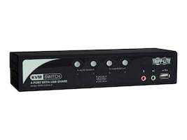 Tripp Lite 4-Port KVM Switch with Audio, OSD and Peripheral Sharing, B006-VUA4-K-R, 11239105, KVM Switches