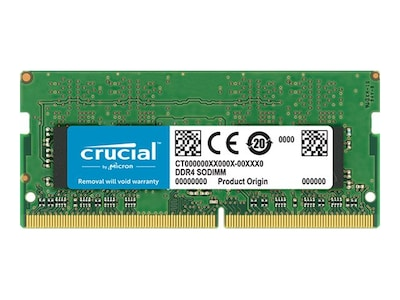 Crucial 16GB PC4-19200 260-pin DDR4 SDRAM SODIMM CL17 unbuffered, CT16G4SFD824A, 31897199, Memory