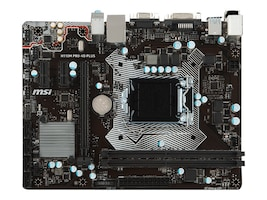 Microstar Motherboard, H110M Pro-VD Plus mATX H110 LGA2011 Core i7 i5 i3 Family Max.32GB DDR4 4xSATA GbE, H110M PRO-VD PLUS, 32308317, Motherboards