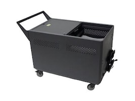 Datamation Security Cart to Accomodate 3 Chromebooks, DS-GR-CBW-L32-C, 17701735, Computer Carts