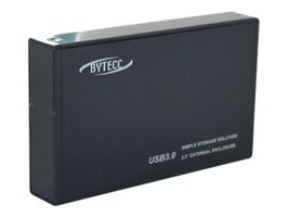 Bytecc 3.5 Aluminum SATA to USB 3.0 Toolless External Enclosure, HD-TL350SU3, 13151879, Hard Drive Enclosures - Single