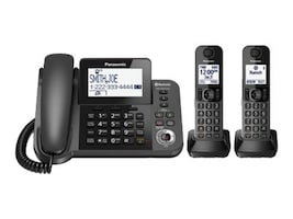 Panasonic Link2Cell Bluetooth Corded+Less Phone w  Answering System & (2) Handsets, KX-TGF382M, 35816843, Telephones - Consumer