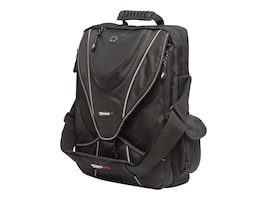 Mobile Edge 13.3 Mini Messenger, Black w  Silver Trim, MEMMS2, 35401496, Carrying Cases - Notebook