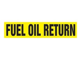 Panduit Self Stick Pipe Marker, Fuel Oil Return, Yellow, Size D, PPMA1239D, 36031589, Tools & Hardware