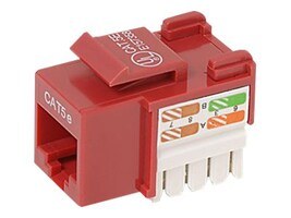 Belkin Cat5e Keystone Jack, 568A 568B, Red, R6D024-AB5E-RED, 7630769, Premise Wiring Equipment