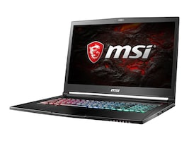 MSI GS73 Stealth Pro Core i7-7700 2.8GHz 16GB 256GB+2TB ac BT WC 3C GTX1060 17.3 FHD W10, GS73VR225, 33589931, Notebooks