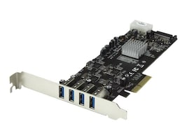 StarTech.com 4 Port USB 3.0 PCIe Card with 4 Dedicated Channels - UASP, PEXUSB3S44V, 16662691, Controller Cards & I/O Boards