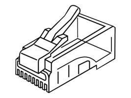 ACP-EP Cat6 RJ45 Connectors, 100-Pack, ADD-CAT6CNCT-100PC, 33540169, Cable Accessories