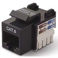 Belkin CAT6 Channel Keystone Jack 568A 568B, black, R6D026-AB6, 5192478, Premise Wiring Equipment