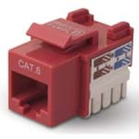 Belkin CAT6 Channel Keystone Jack 568A 568B, red, R6D026-AB6-RED, 5192515, Premise Wiring Equipment