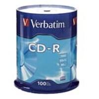 Verbatim 52x 700MB 80min. Branded CD-R Media (100-pack Spindle), 94554, 5206008, CD Media