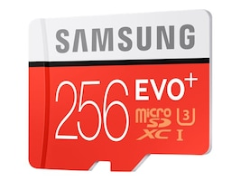 Samsung 256GB Micro SD EVO+ Memory Card with SD Adapter, MB-MC256DA/AM, 32198402, Memory - Flash