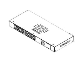 Raritan Monitored Switched 1U PDU 3.7kVA 230V 16A, (8) C13 Outlets, PX3-5190NR-M5, 35101071, Power Distribution Units