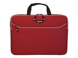 Mobile Edge 13.3 SlipSuit Sleeve, Crimson Red, MESSM7-13, 35401154, Carrying Cases - Notebook