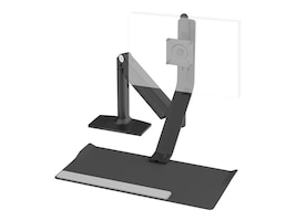Humanscale QuickStand Lite with Single Monitor Support, Grommet Mount, Black, QSLBLG, 33889871, Stands & Mounts - AV