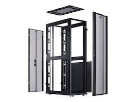 CyberPower 42U x 19 Rack Enclosure 600mm x 1070mm Doors Side Panels, Black, Casters, CR42U11001, 33220827, Racks & Cabinets