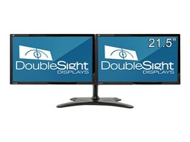 DoubleSight 21.5 LCD Monitor with Dual Monitor Desktop Mount, DS-2200WB, 33587573, Monitors