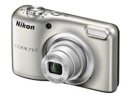 Nikon Coolpix A10 Camera, 16.1MP, 5x Zoom, Silver, 26518, 33672794, Cameras - Digital